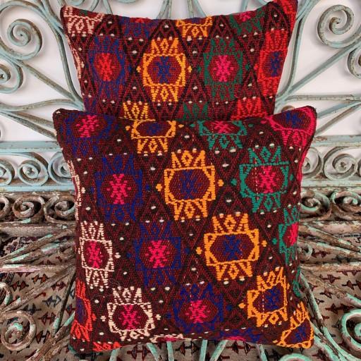 Vintage Combined Kilim Cushions-Cmb002
