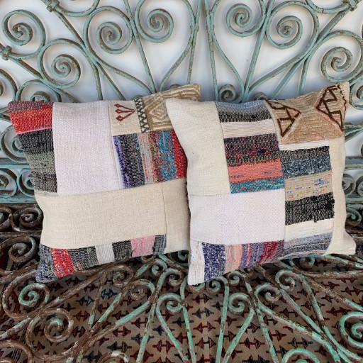 Vintage Combined Patchwork Kilim Cushions-Cmb030