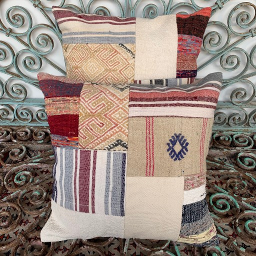 Vintage Combined Patchwork Kilim Cushions-Cmb031