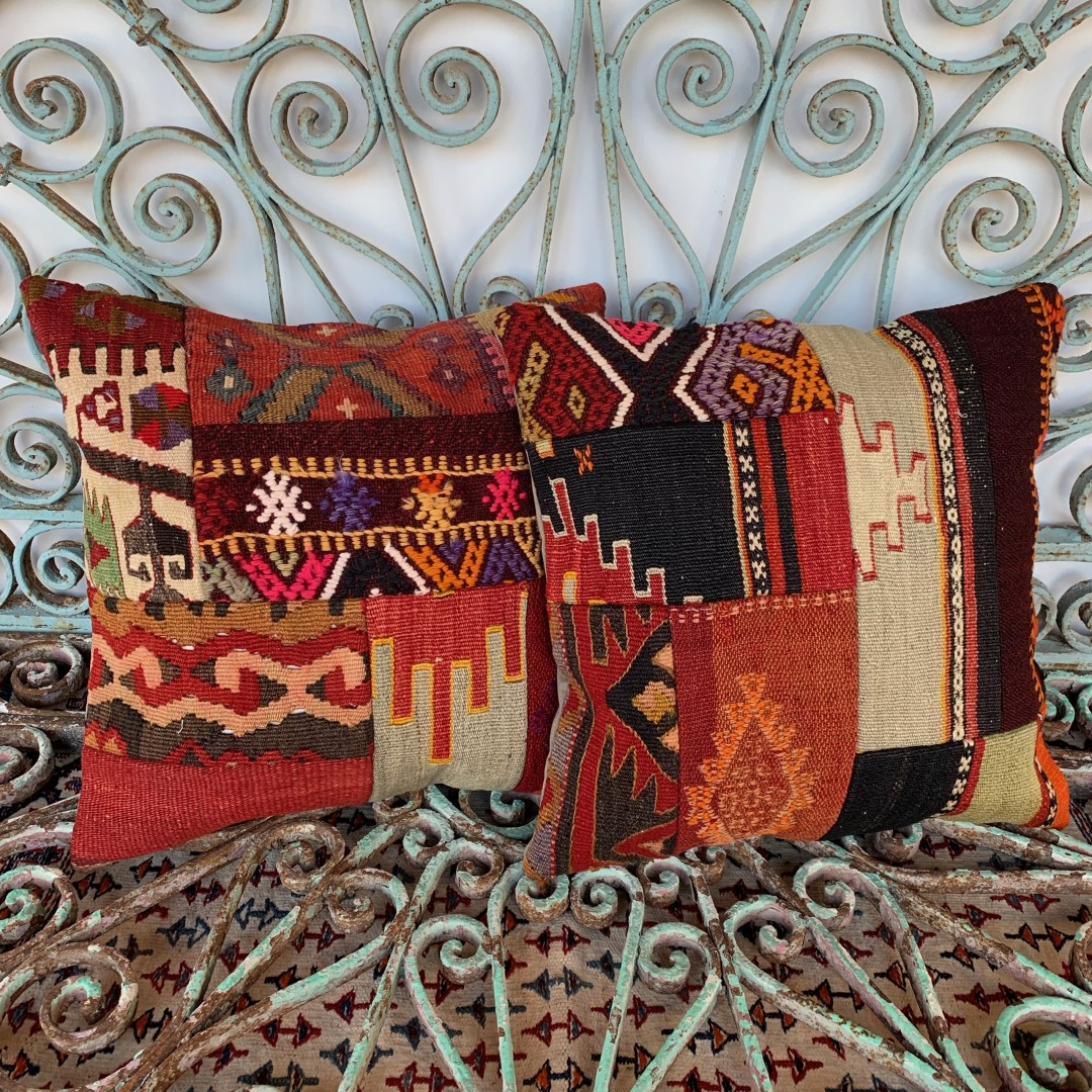 Vintage Combined Patchwork Kilim Cushions-Cmb033