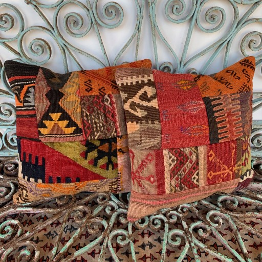 Vintage Combined Patchwork Kilim Cushions-Cmb034