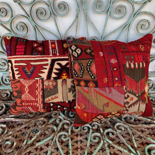 Vintage Combined Patchwork Kilim Cushions-Cmb035