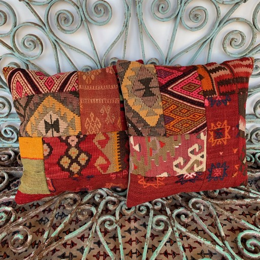 Vintage Combined Patchwork Kilim Cushions-Cmb036