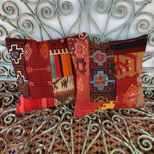 Vintage Combined Patchwork Kilim Cushions-Cmb037