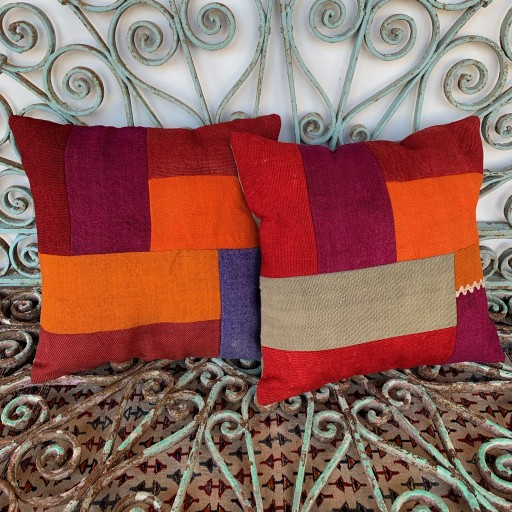 Vintage Combined Patchwork Kilim Cushions-Cmb038