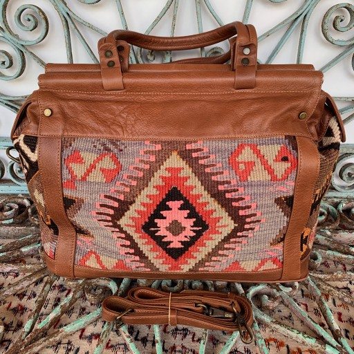 Handmade Leather / Kilim Bag-Bag002