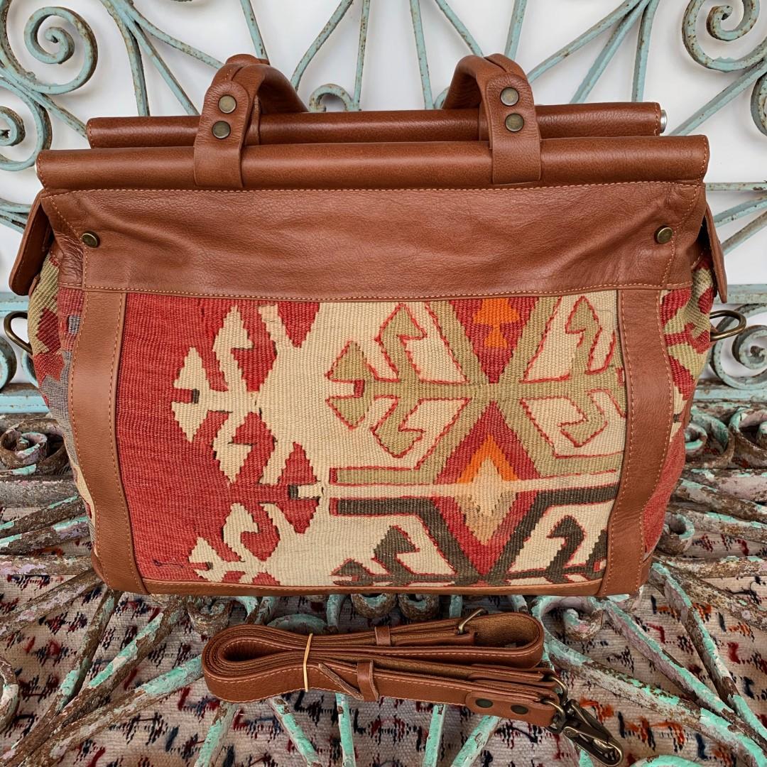 Handmade Leather / Kilim Bag-Bag003