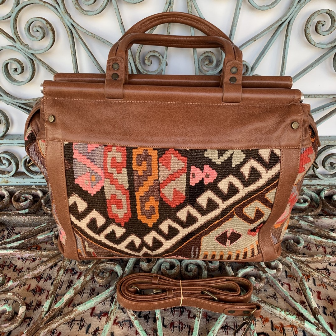Handmade Leather / Kilim Bag-Bag001