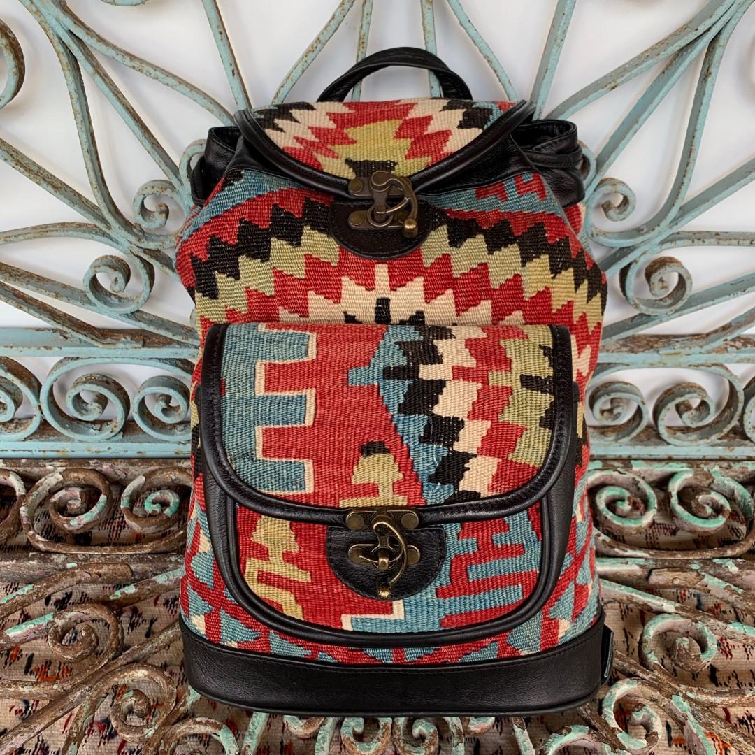 Handmade Leather / Kilim Bag-Bag005