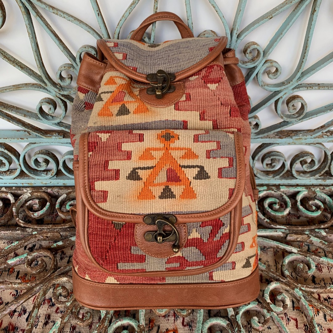 Handmade Leather / Kilim Bag-Bag006