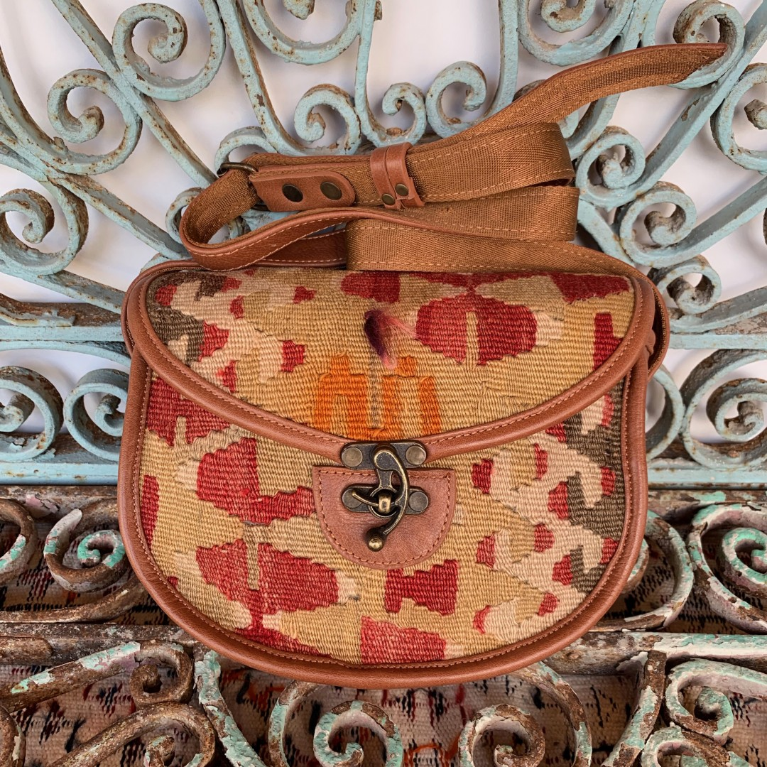 Handmade Leather / Kilim Bag-Bag011