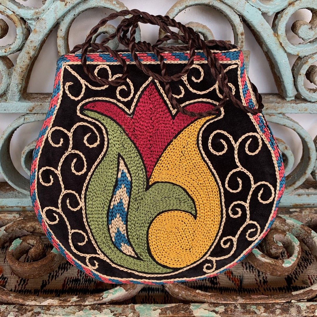 Hand Embroidered Silk Bag-Bag019