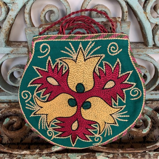 Hand Embroidered Silk Bag-Bag026