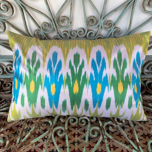 Ikat Silk Cushion-Ikt016