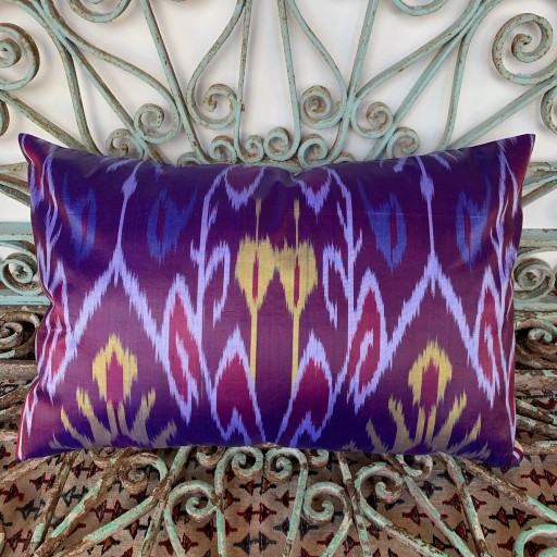 Ikat Silk Cushion-Ikt017