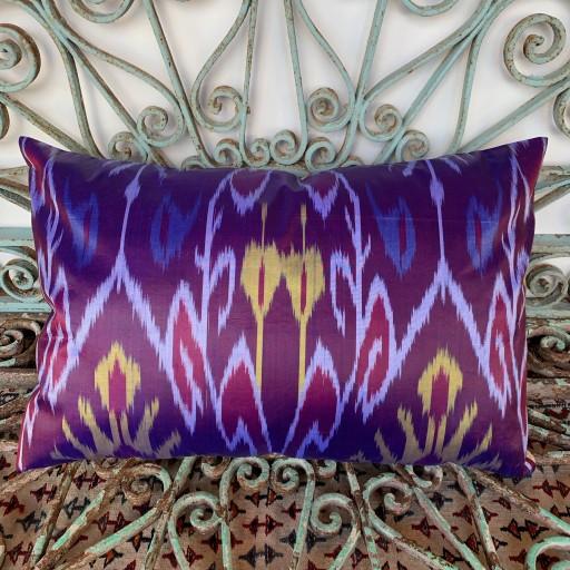 Ikat Silk Cushion-Ikt017