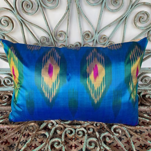 Ikat Silk Cushion-Ikt018
