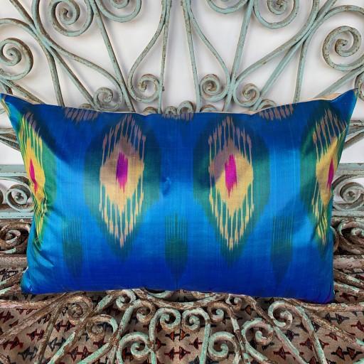 Ikat Silk Cushion-Ikt018
