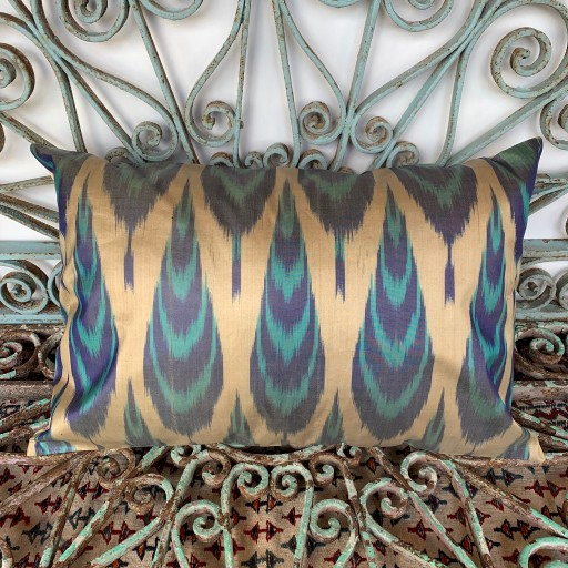 Ikat Silk Cushion-Ikt019