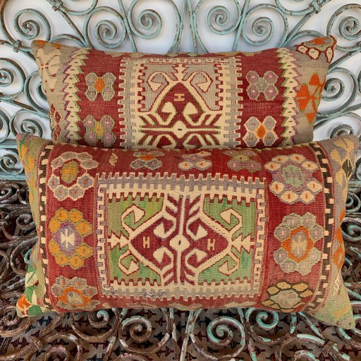 Vintage Combined Kilim Cushions-Cmb048