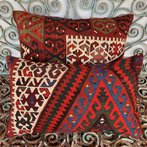 Vintage Combined Kilim Cushions-Cmb053