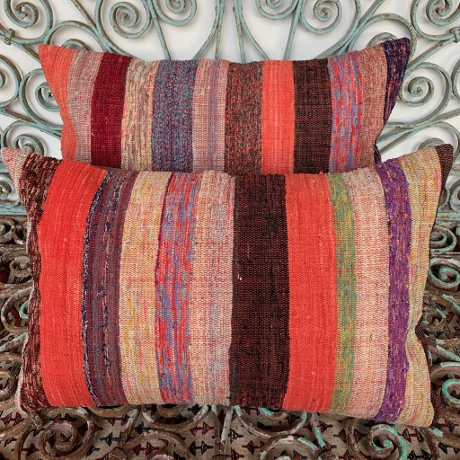 Vintage Combined Kilim Cushions-Cmb058