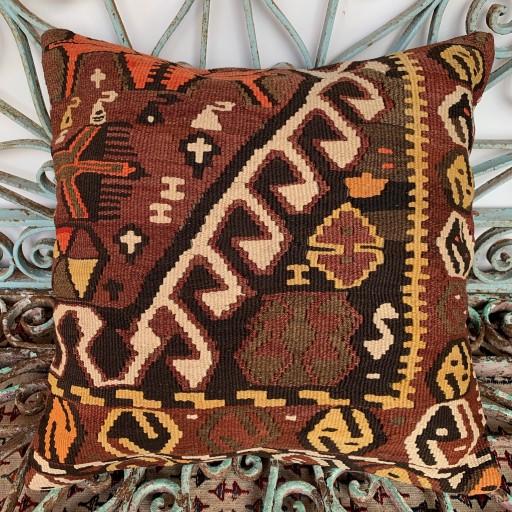 Vintage Kilim Cushion-Klm116