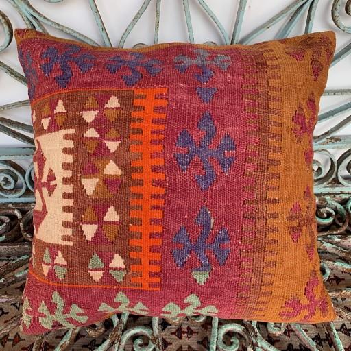 Vintage Kilim Cushion-Klm117