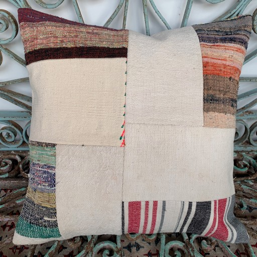 Vintage Patchwork Kilim Cushion-Pch078