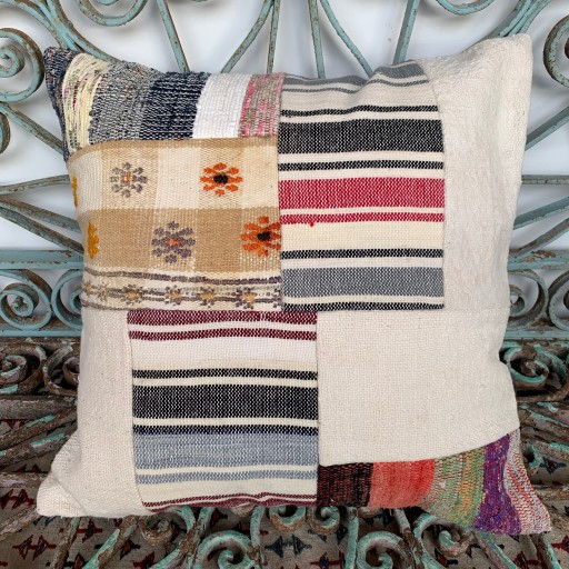 Vintage Patchwork Kilim Cushion-Pch079