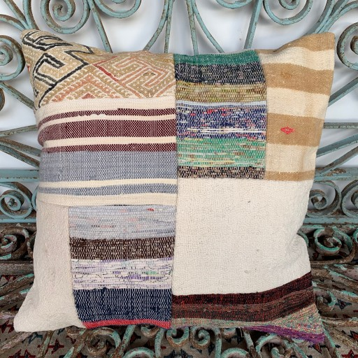 Vintage Patchwork Kilim Cushion-Pch080