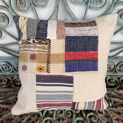 Vintage Patchwork Kilim Cushion-Pch081