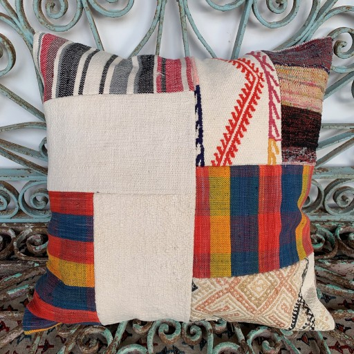 Vintage Patchwork Kilim Cushion-Pch082