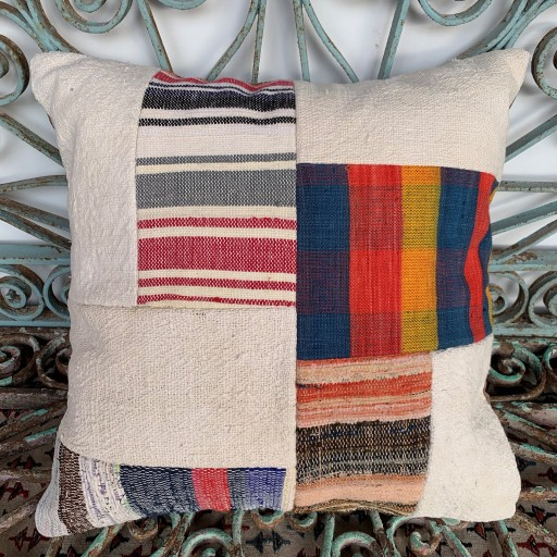 Vintage Patchwork Kilim Cushion-Pch083