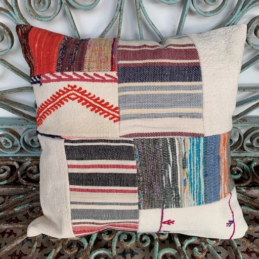 Vintage Patchwork Kilim Cushion-Pch084