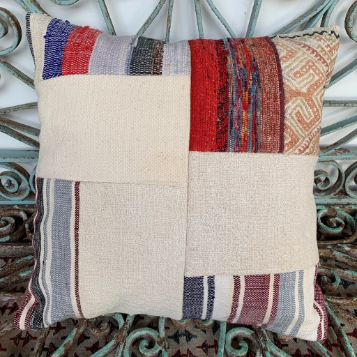 Vintage Patchwork Kilim Cushion-Pch086