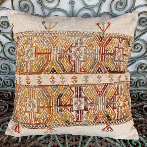 Vintage Kilim Floor Cushion-Klm119