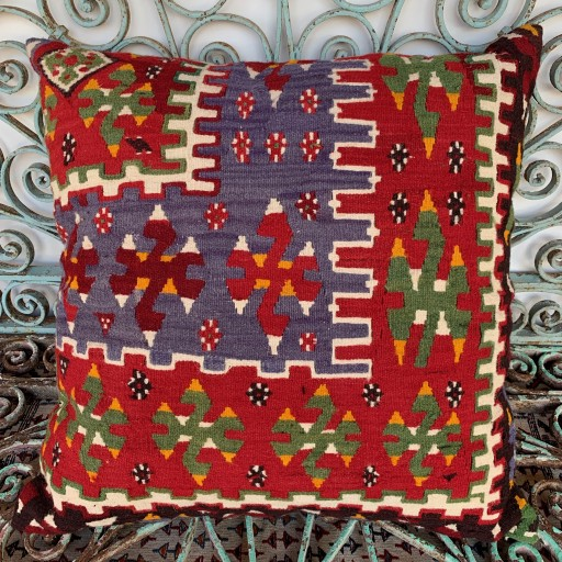 Vintage Kilim Floor Cushion-Klm120