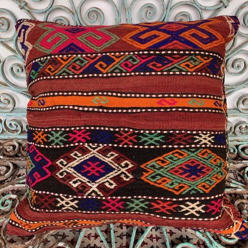 Vintage Kilim Floor Cushion-Klm131
