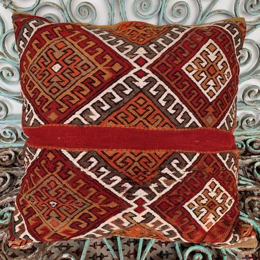 Vintage Kilim Floor Cushion-Klm132
