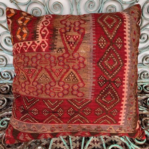 Vintage Kilim Floor Cushion-Klm133