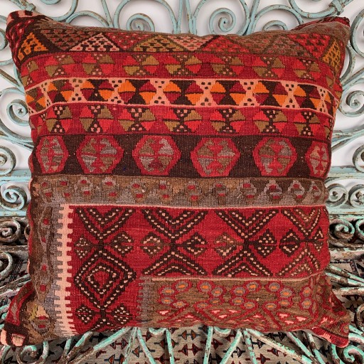 Vintage Kilim Floor Cushion-Klm134