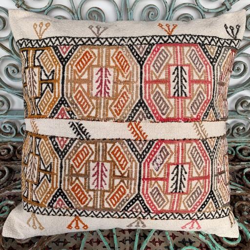Vintage Kilim Floor Cushion-Klm135