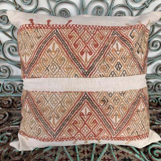 Vintage Kilim Floor Cushion-Klm136