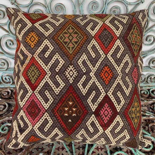 Vintage Kilim Floor Cushion-Klm137