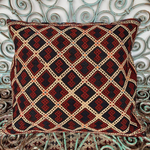 Vintage Kilim Floor Cushion-Klm139