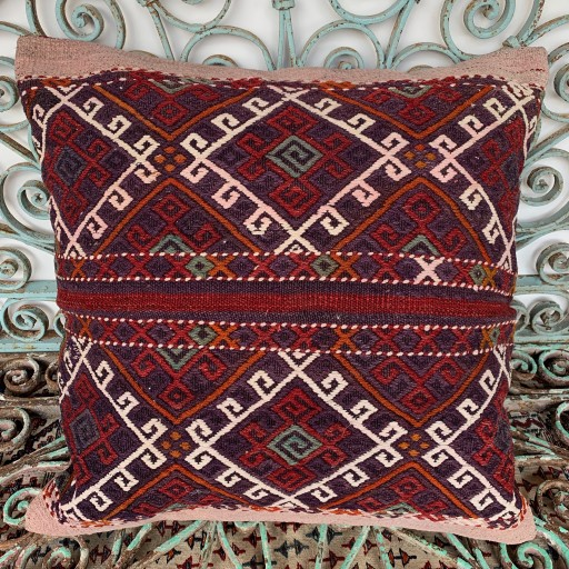 Vintage Kilim Floor Cushion-Klm140