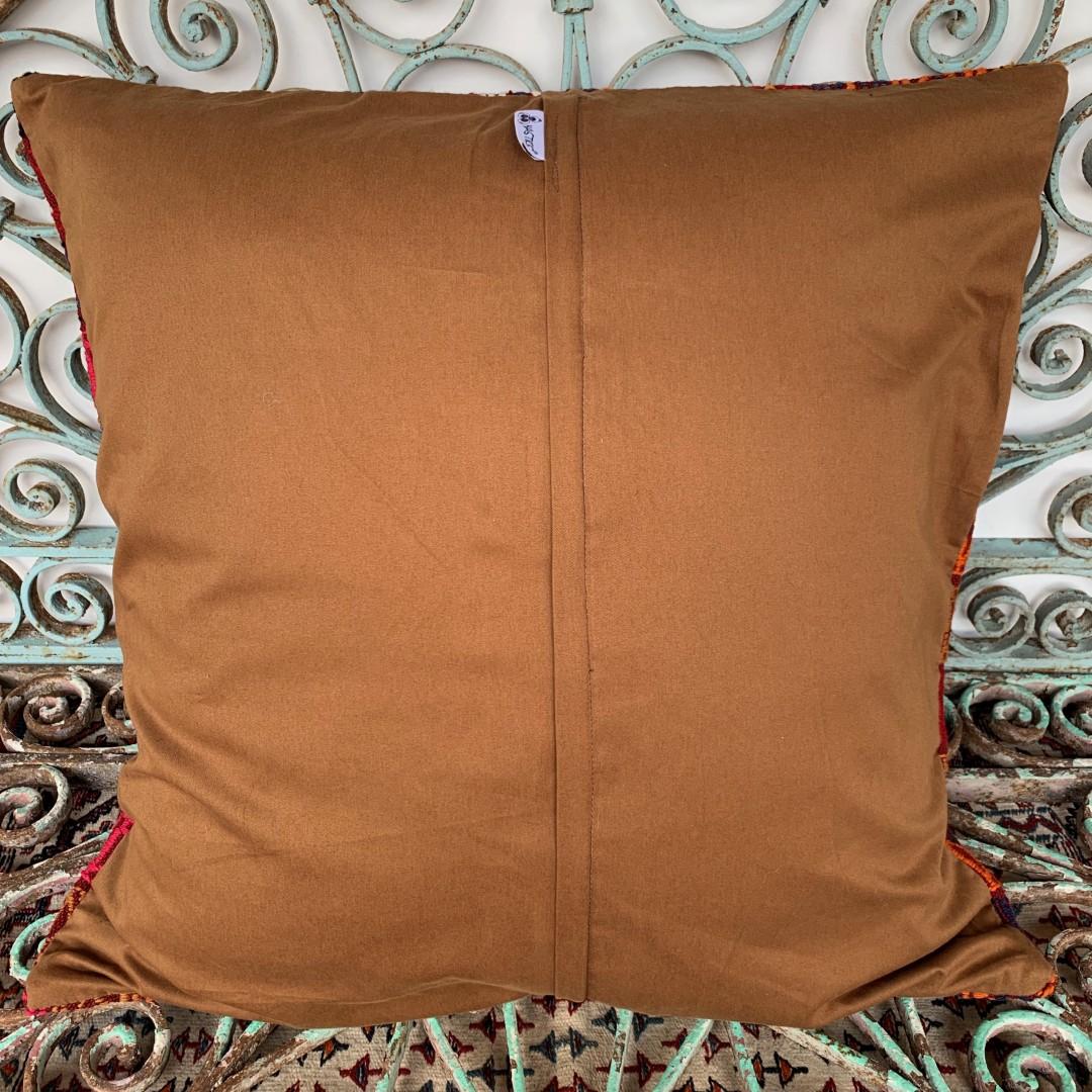 Vintage Kilim Floor Cushion-Klm141