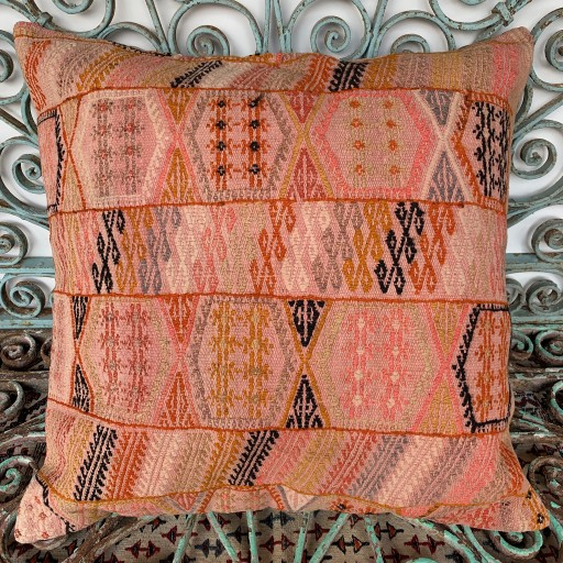 Vintage Kilim Floor Cushion-Klm142