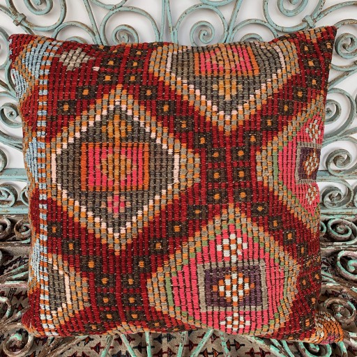 Vintage Kilim Floor Cushion-Klm143